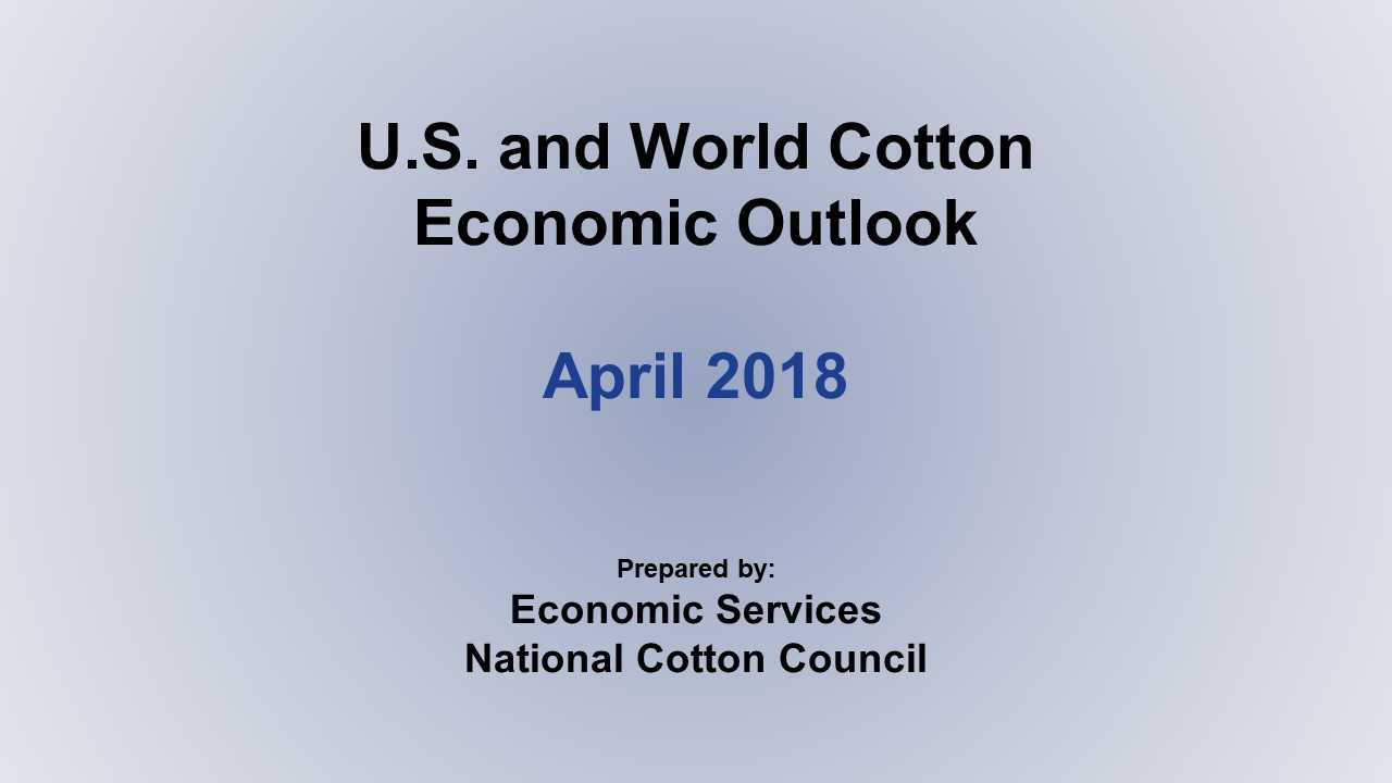 Monthly Economic Outlook, April 2018
