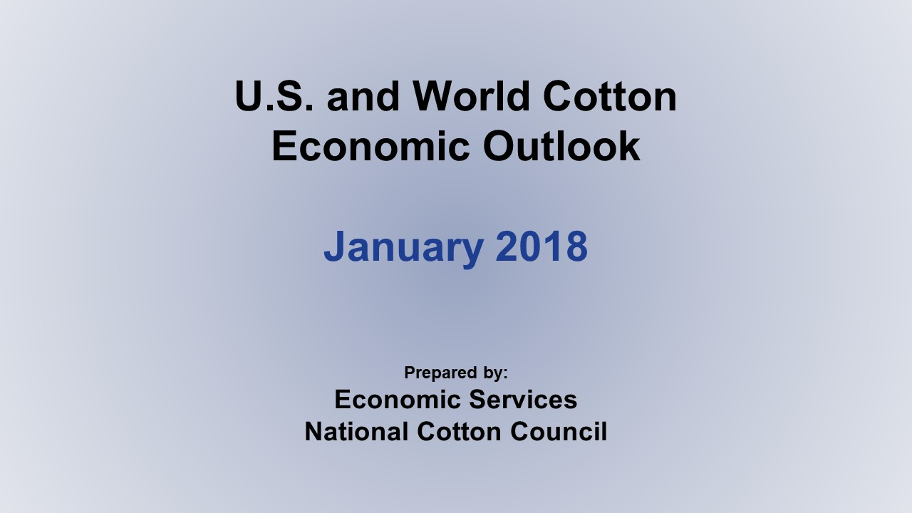Monthly Economic Outlook, Jan 2018