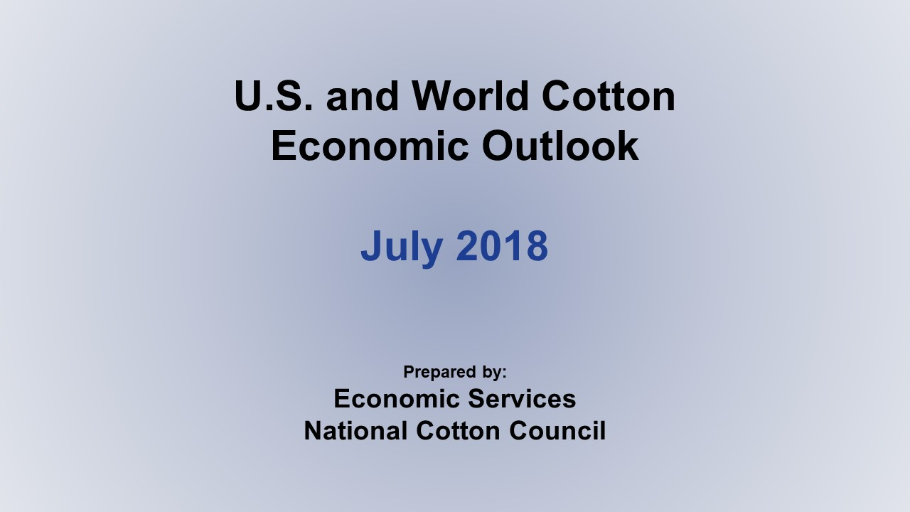 Monthly Economic Outlook, July 2018