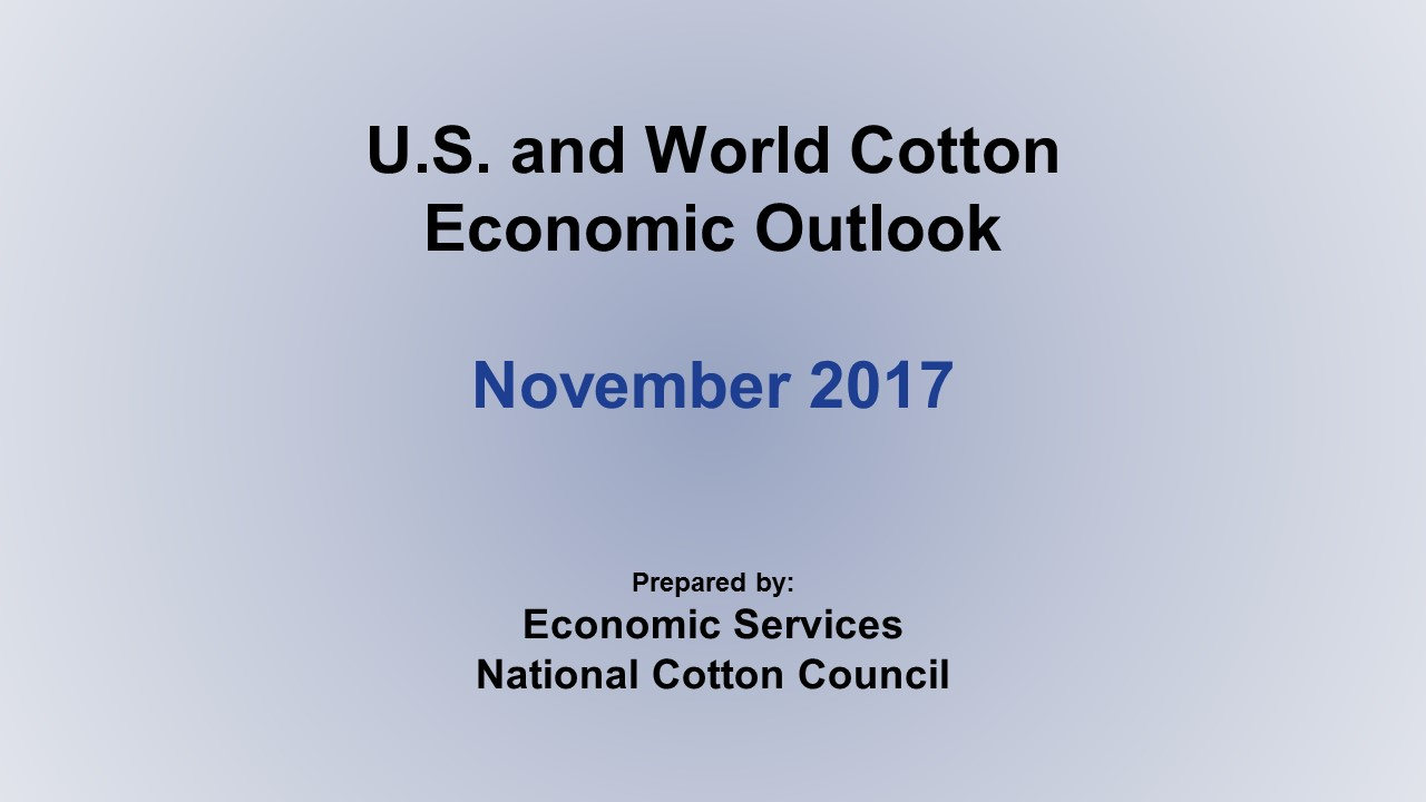 Monthly Economic Outlook, November 2017